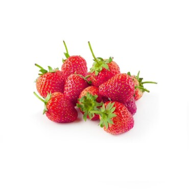 Fresh strawberries isolated over a white background